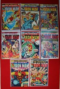 Iron-Man-Vol-1-Issues-57-81-Marvel-Comics-Lot-Avengers-Mandarin-Jack-Kirby-039-73