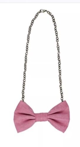 Persnickety Purple//Pink Bow Tie Necklace New!