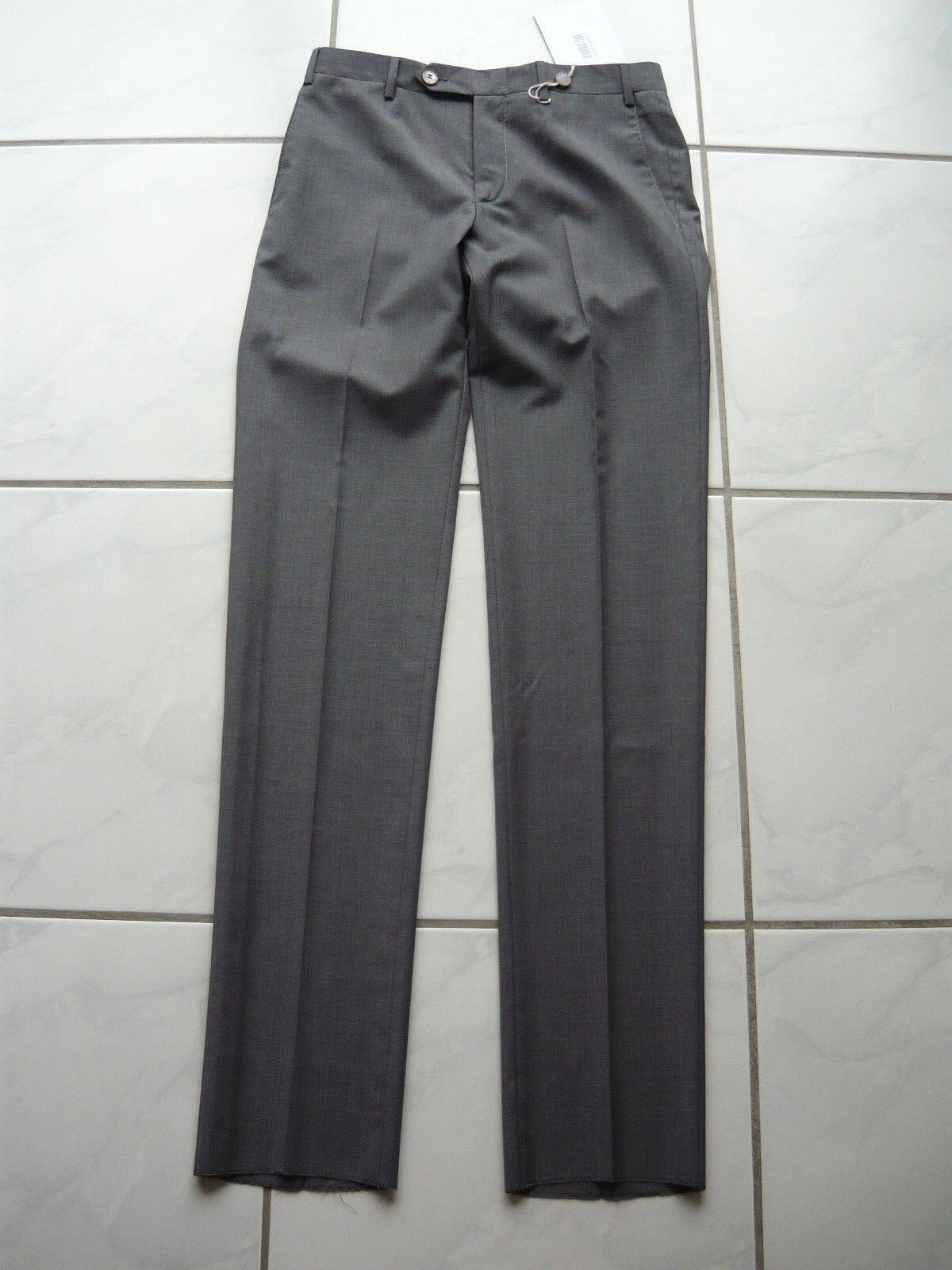 ZANELLA Hose grau Gr. 46 Schurwolle Mod. 111384 Bart D pants grau virgin wool