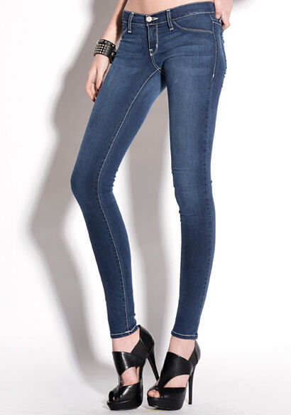 en volant Monkey Jeans Bleu Laver blanc Stitch Jegging JL58 taille 29 in (environ 73.66 cm) Neuf Avec Étiquettes Neuf