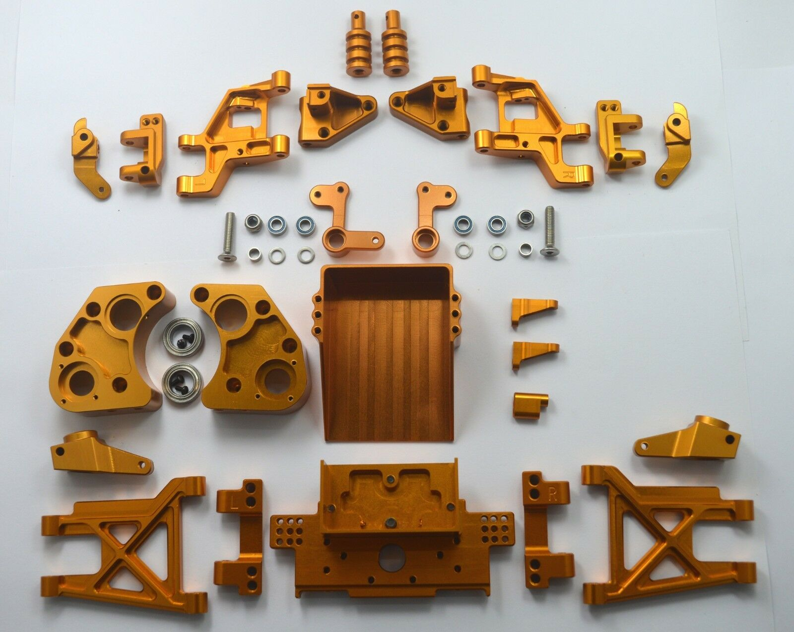Dhawk Racing Aluminum Conversion Kit oro For  squadra Associated RC10 classeic Kit  senza esitazione! acquista ora!