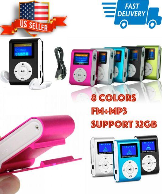 Mini Portable LCD FM Radio Stereo Speaker MP3 Music Player Micro SD TF USB