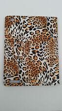 PU Portfolio Orange White Stand Case For iPad 2 3 4 Leopard Print Spot Bi Fold