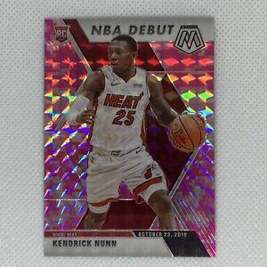 2019-20-Panini-Mosaic-Kendrick-Nunn-NBA-Debut-Rookie-RC-Pink-Camo-Prizm-268