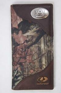 ZEP-PRO Auburn Tigers Roper Leather & Nylon MOSSY OAK Camo Wallet NO BOX