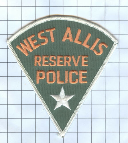 West Allis Reserve Police Police Patch Wisconsin