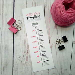 Personalised wedding timeline cards order of service wedding image is loading personalised wedding timeline cards order of service wedding junglespirit Image collections