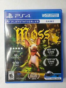 Moss-VR-PS4-PlayStation-4-2018-PSVR-ADULT-OWNED-SUPER-CLEAN-Many-Awards