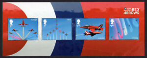 2018 RAF CENTENARY  RED ARROWS Stamp Mini Sheet Mint  NO BARCODE - Cambridgeshire, United Kingdom - 2018 RAF CENTENARY  RED ARROWS Stamp Mini Sheet Mint  NO BARCODE - Cambridgeshire, United Kingdom