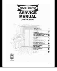 repair manual sub zero refrigerators choice of 1 manual see below rh ebay com sub zero 680 service manual Sub-Zero Mortal Kombat Character