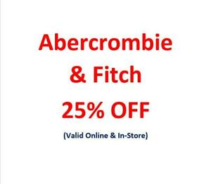 Abercrombie & Fitch A&F A Promo Code Discount Coupons (Sales & Clearance)