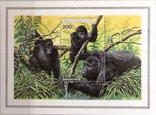 RWANDA RUANDA 1985 Block 103 Berggorilla Mountain Gorilla Fauna Animals Tiere **