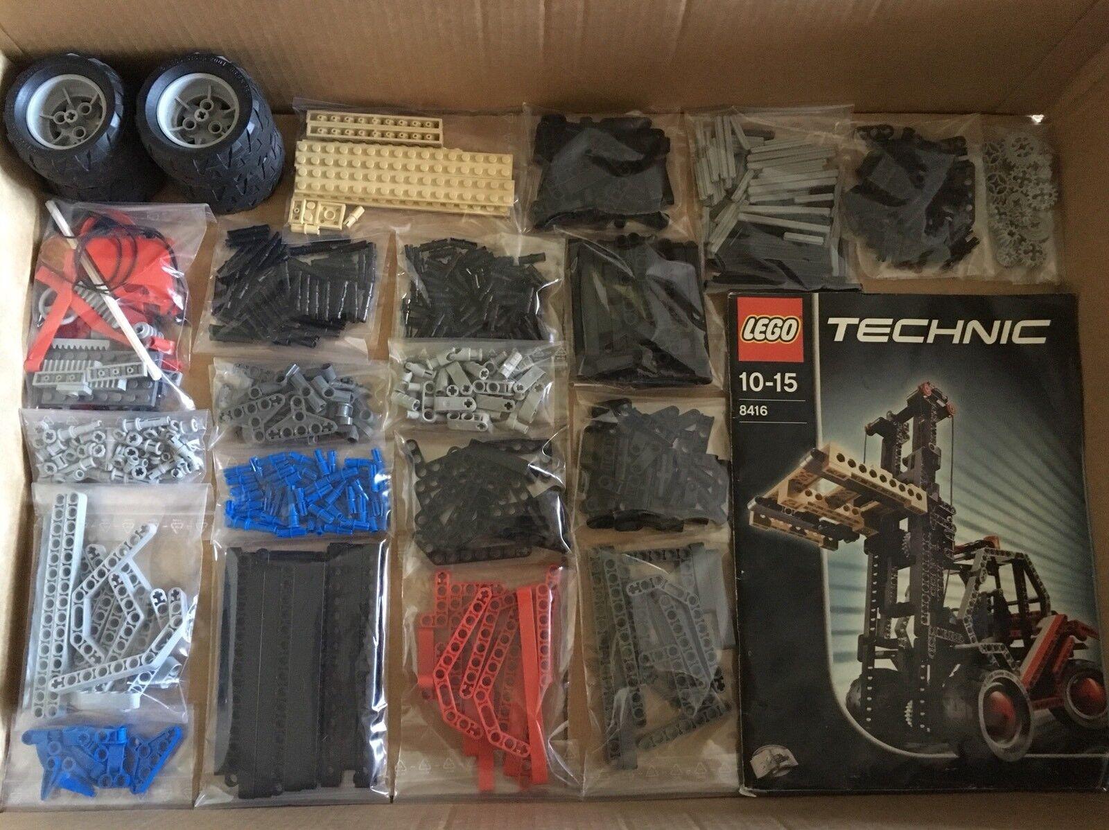 Lego Technic Technik 8416 Gabelstapler. 100% Komplett