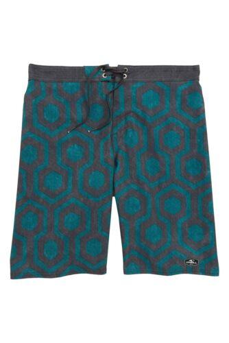 "O/'Neill Boys 10 Slim//23/"" Hyperfreak Wrenched Green Stretch Surf Board Shorts"