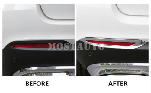 For Benz GLC X205 X253 ABS Chrome Rear Fog Light Cover Trim 2pcs  2015-2019