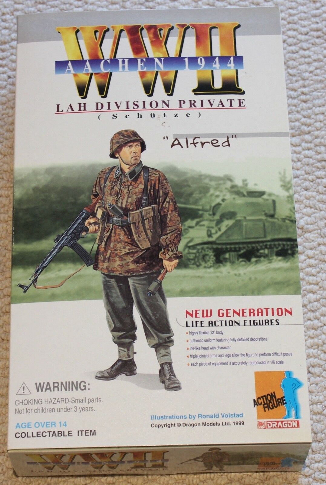 Dragon action figure 1 6 ww11 german alfred 12'' boxed did cyber hot toy