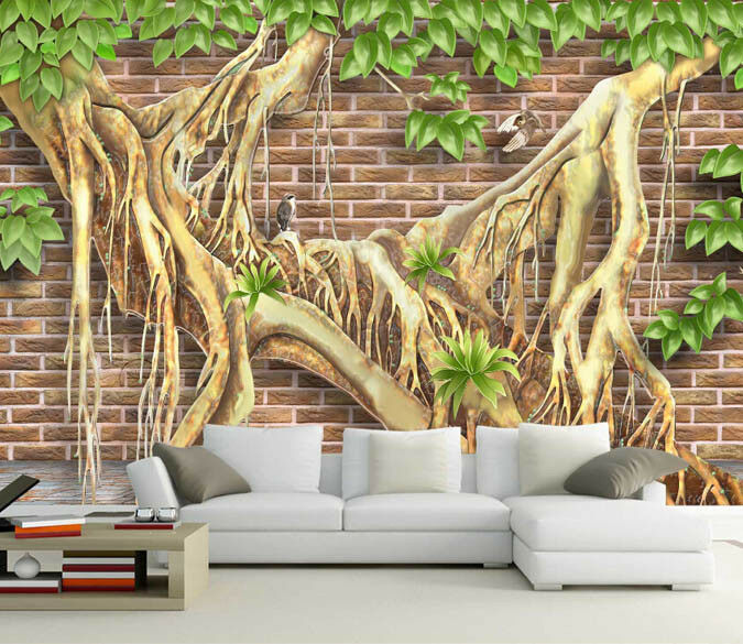 3D Trunk View 485 Wallpaper Murals Wall Print Wallpaper Mural AJ WALL AU Lemon