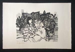 Hanno-Edelmann-ohne-Titel-Lithographie-1977-handsigniert-und-datiert