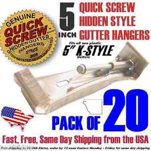 20-5-034-inch-Quick-Screw-Hidden-Rain-Gutter-Bracket-Hangers-clip-style-Heavy-Duty