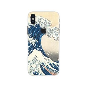 iPhone-8-7-Skin-STICKER-Decal-10-6-Plus-6s-X-XS-Max-Great-Wave-off-Kanagawa-PS48