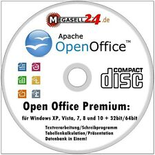 Open Office 2017 premium alemán paquete Windows 10, 8 & 7 vista XP software de oficina