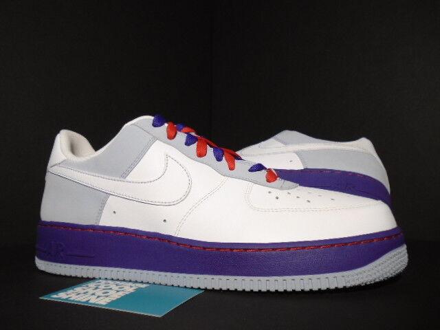 Nike air force 1 '07 peking weiß - blau denim atom - rot lila 315115-113 12 10,5