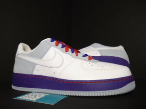 Details about Nike Air Force 1 '07 BEIJING WHITE BLUE DENIM ATOM RED PURPLE 315115 113 12 10.5