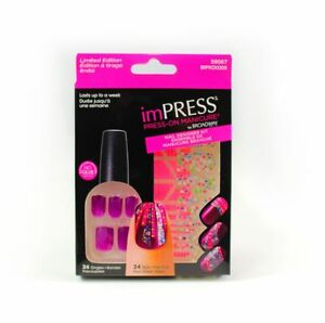Kuenstliche-Fingernaegel-imPRESS-Nails-24-mit-Nagelsticker-selbstklebend-lila