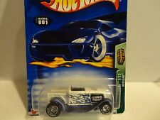 2003 Hot Wheels Treasure Hunt #1 White w/Flames Hooligan w/Real Riders