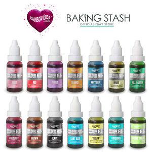 Rainbow Dust Colour Flo Edible Liquid Airbrush Food Colour- All ...