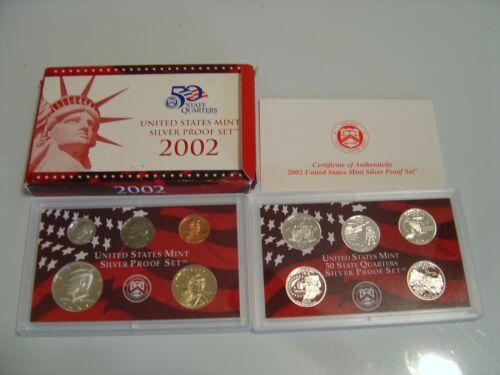 2002-S SILVER PROOF SET in original unopened box w//COA