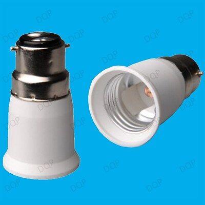 12 x Lamp Light Bulb Socket Base Converter Bayonet Cap Edison Screw B22 to E27