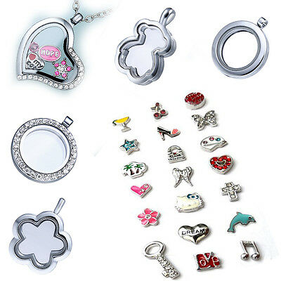 New Living Memory Necklace Chain Floating Charms Locket Jewellery Pendant Charm