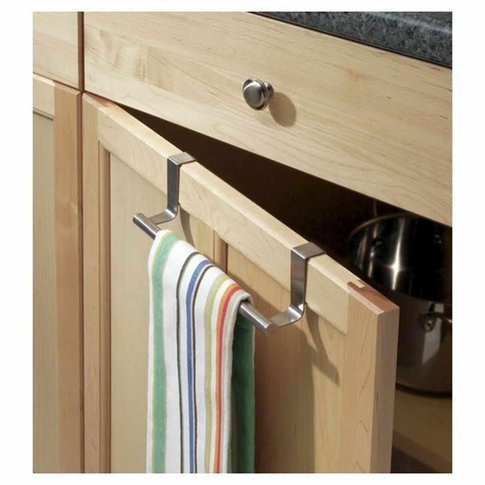 23Cm Over Kitchen Cabinet Door Tea Hand Towel Rail Holder Hanger Storage..