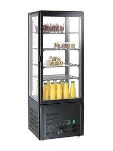 Mini-Kuehlvitrine-98-schwarz-Kalte-Theke-Aufsatzkuehlvitrine