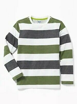 Striped Long Sleeve Crew-Neck Shirt NWT Boys size M 8 Old Navy