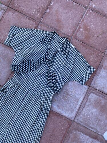 1930's 1940's Checkered Gingham Dress Bolero Set V