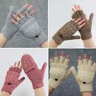 New Women Men Winter Soft Fingerless Gloves Mittens Knitted Glove Hand Warmer