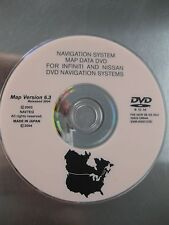 2002 2003 2004 2005  2006 INFINITI NISSAN NAVIGATION DVD VERSION 6.3  DVD