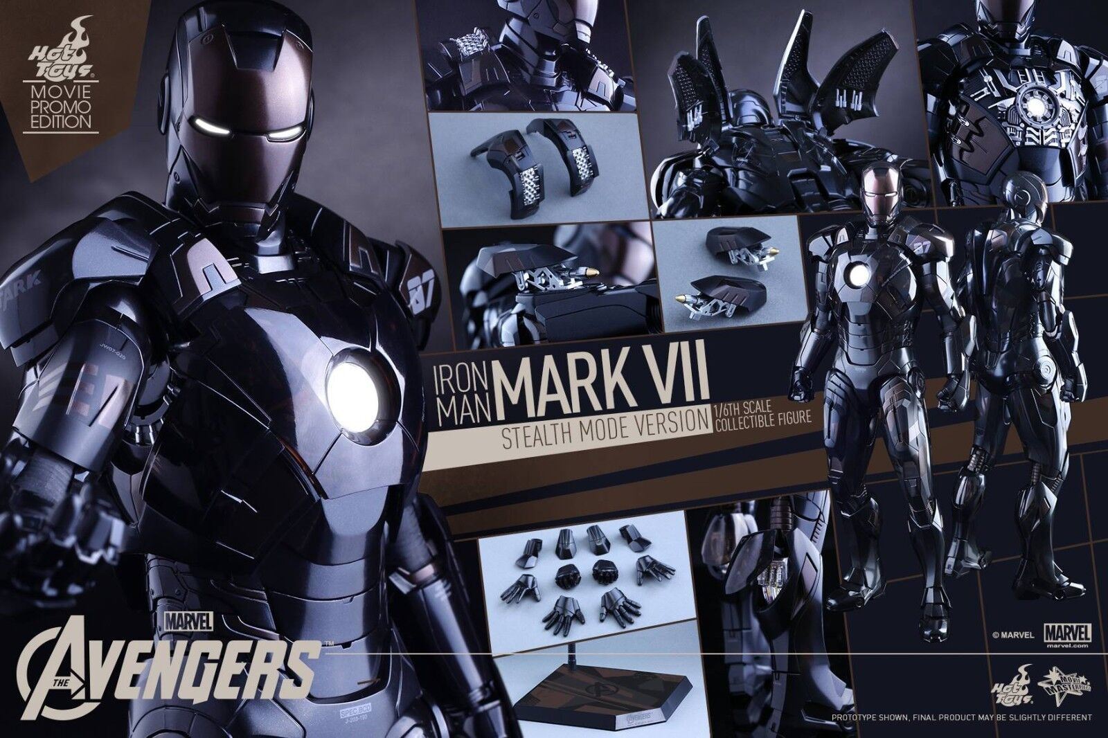 Hot Toys Iron Man Mark VII Stealth Mode Movie Promo Exclusive Sold Out Sideshow