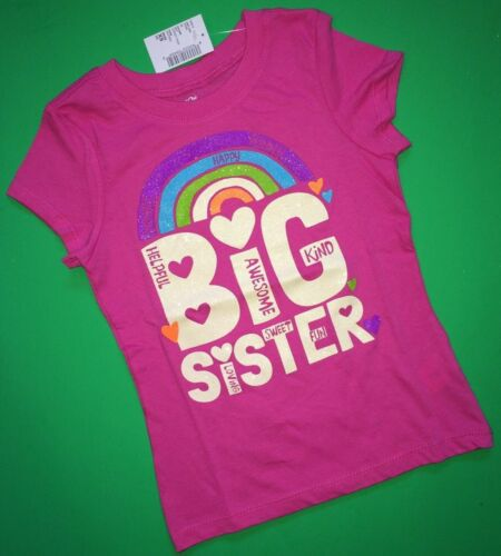 "~NEW~ /""I/'m the BIG SIS/"" Sister Graphic Shirt 4 4T 5-6 7-8 10-12 14 Purple Gift!"