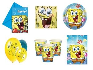 Image Is Loading Spongebob Birthday Party Supplies Tableware Amp Decorations Sponge