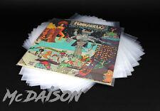 McDAISON 100 BUSTE trasparenti DISCHI LP 33g POLIETILENE resistente 100my vinile