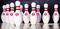 Bowling Pins Photo License Plate