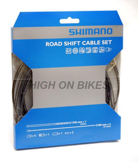 Shimano Road Bike Gear Cable Set PTFE - Grey