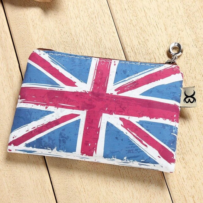[AWESOME] British England Union Jack Flag London Purse Coin Banknote Holder Zip