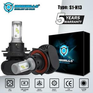 IRONWALLS-H13-9008-2100W-315000LM-CSP-LED-Headlight-Bulbs-Kits-6000K-White-HID