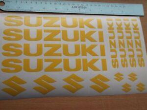 8 x SUZUKI WHEEL STICKERS  Motorcycle/Moto Vinyl Sticker. 7 YEAR VINYL