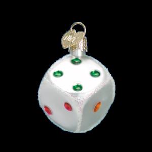Old-World-Christmas-DICE-44026-N-Glass-Ornament-w-OWC-Box