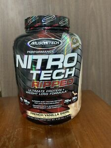 Muscletech, Nitro Tech Ripped Ultimate Protein + Weight Loss Vanilla 4 lbs